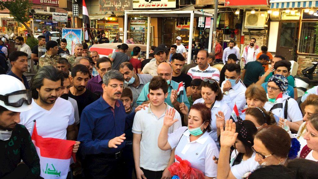 Manifestations en Irak comprenant chrétiens et musulmans