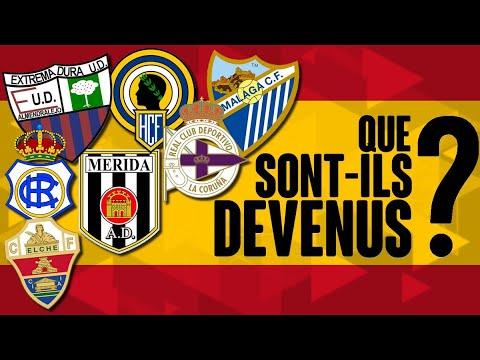 Que sont devenus les clubs espagnols tombés en divisions inférieures ou liquidation ?